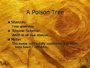 Poison Tree Notes