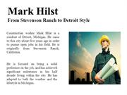 Mark Hilst-From Stevenson Ranch to Detroit Style