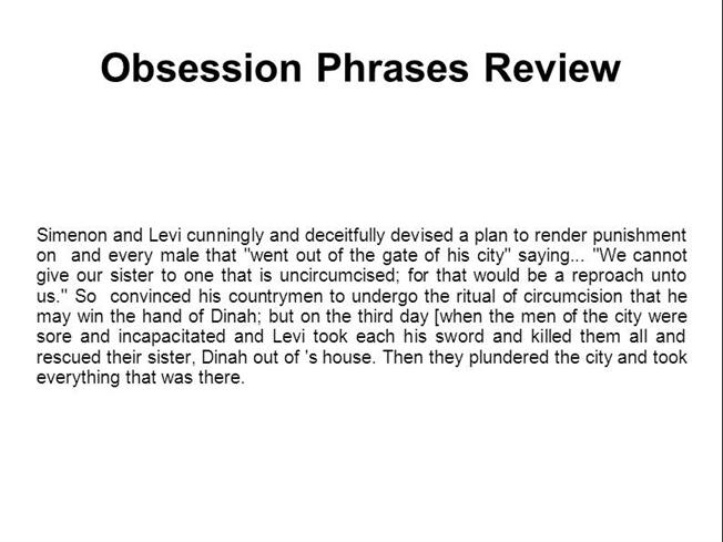 Obsession Phrases Review - Free Download |authorSTREAM