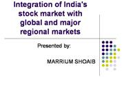 Integration of India s stock market with