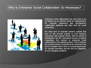 Why is Enterprise Social Collaboration So Necessary