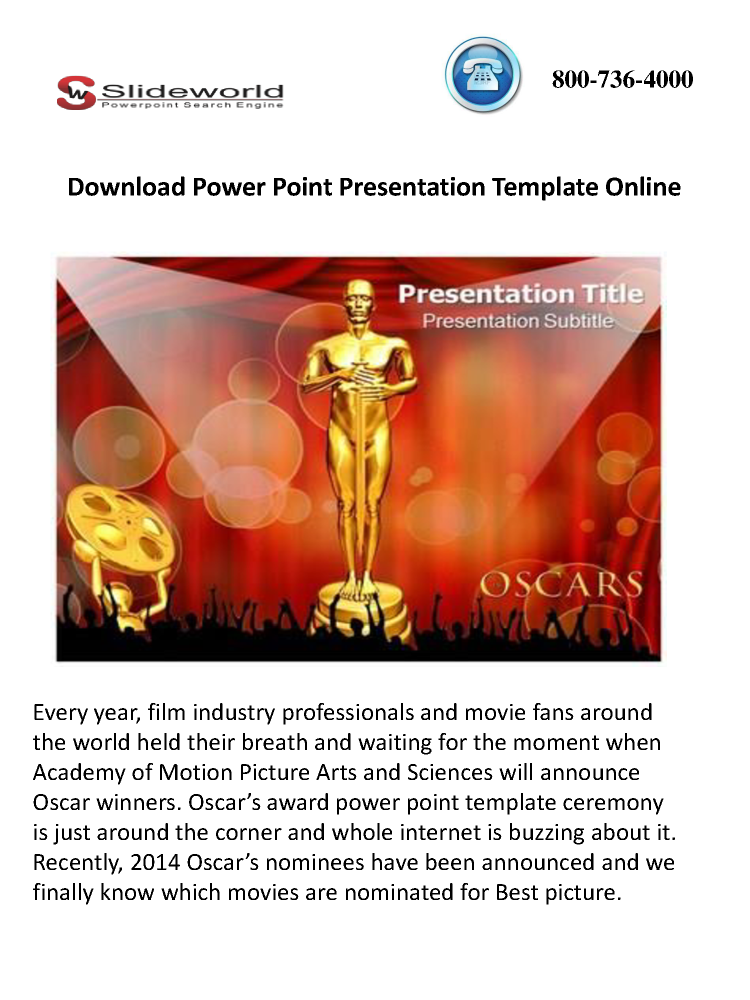 Download oscar award power point template online authorstream toneelgroepblik Gallery