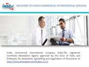 Leading Certificate Attestation Company in India
