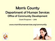 Office of Community Development: 2016 Grant Programs