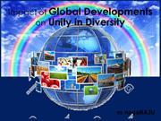 Impact of Global Development on Unity in Diversity