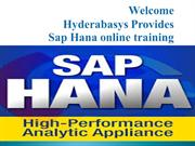 Best SAP HANA online training in UK | SAP HANA online training classes