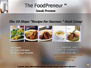 The FoodPreneur Recipe to Success Brief
