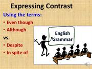 Terms of Contrast: Even Though, Although, Despite, In Spite Of