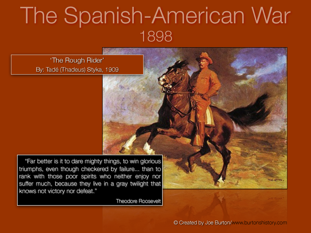 spanish american essay The spanish american war was a turning point in american history it paved the  way for a new world power in  view full essay more essays like this: spain.