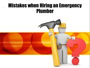Mistakes when Hiring an Emergency Plumber