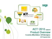 ACT! 2010 Product Overview
