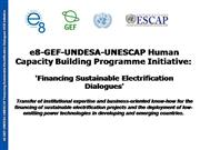 Financing Sustainable Electrification Dialogues
