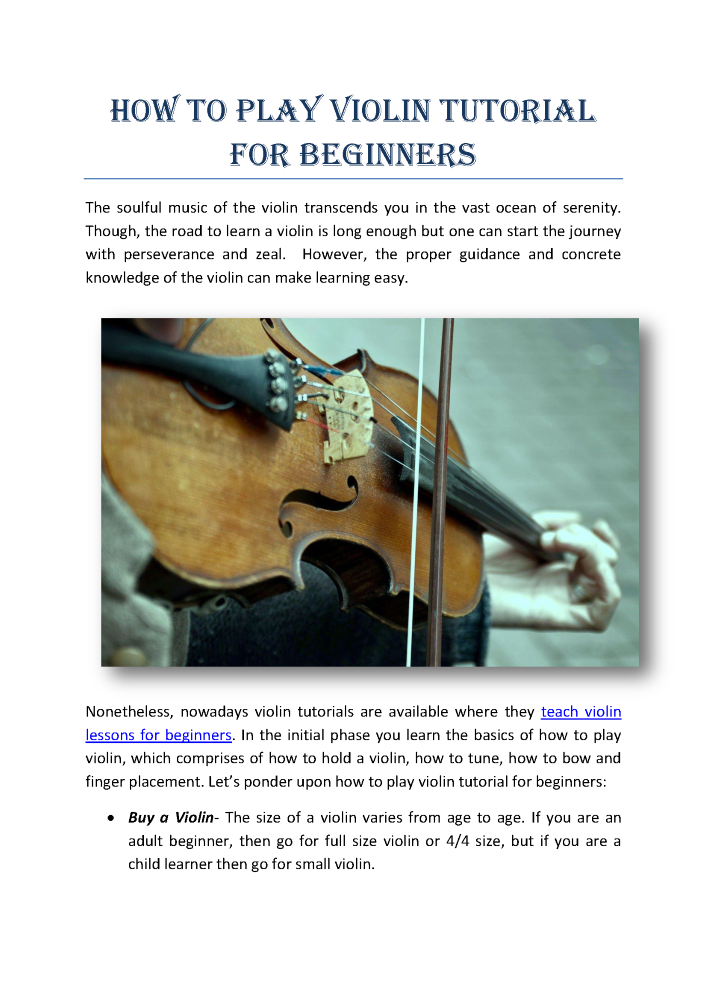 How to Play Violin Tutorial for Beginners |authorSTREAM