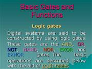 Basic Gates and Functions
