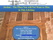 Jordan – The Place You will Not Want to Miss in This Lifetime
