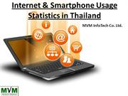 Internet and Smartphone Usage Statistics in Thailand