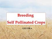 Breeding Self-polinated crops