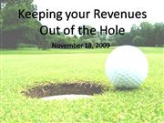 Keeping your Revenues