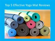 Top five Effective Yoga Mat Reviews for your hot yoga