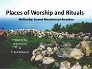 Places of Worship and Rituals