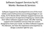Software Support Services by PC Wonks- Reviews & Services