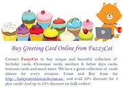 Buy Greeting Card Online from FuzzyCat