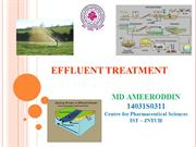 Effluent treatment by MD AMEERODDIN