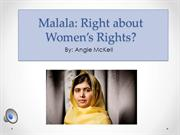 Malala right about womens rights