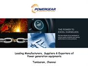 Power Generation Equipments Manufacturers