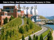 Gate to China - Best Green Recruitment Company in China