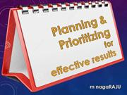 Planning & Prioritizing for Effective Results