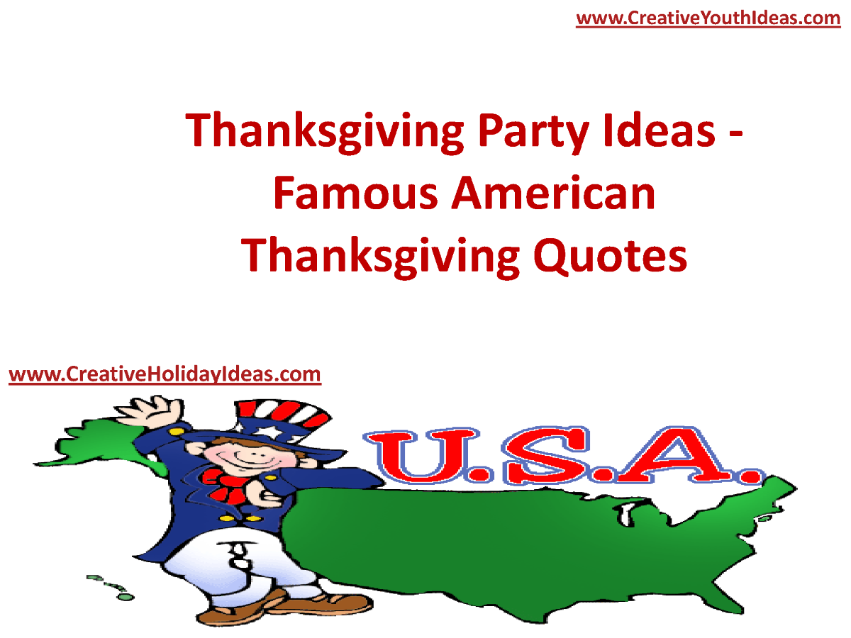 thanksgiving party ideas famous american thanksgiving. Black Bedroom Furniture Sets. Home Design Ideas