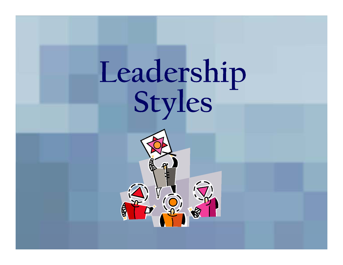 1 leadership styles essey Leadership is defined as 'the process in which an individual influences the group of individuals to attain a common goal' the goal is attained by mutual cooperation and cohesive behaviour a leader infuses a sense of positivity and directs others to reach the specified goal various theories.