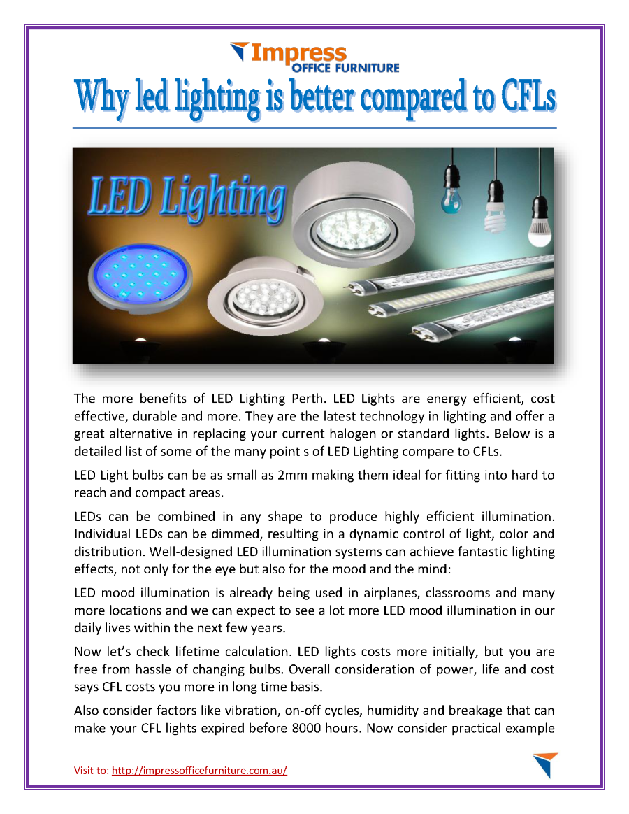 Why Led Lighting is Better Compared to Cfls |authorSTREAM