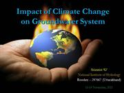 Impact of Climate Change on Groundwater System