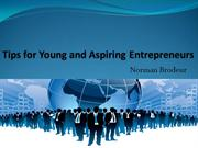 Norman Brodeur | Tips for Young and Aspiring Entrepreneurs