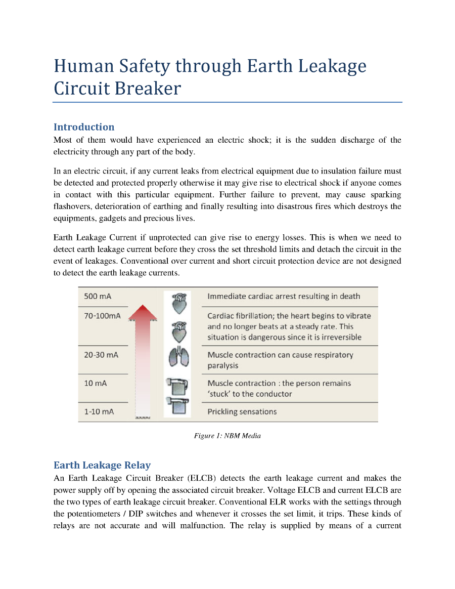 Human Safety Through Earth Leakage Circuit Breaker Authorstream Relay Wiring Diagram Related Presentations