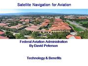 Satellite Navigation for Aviation