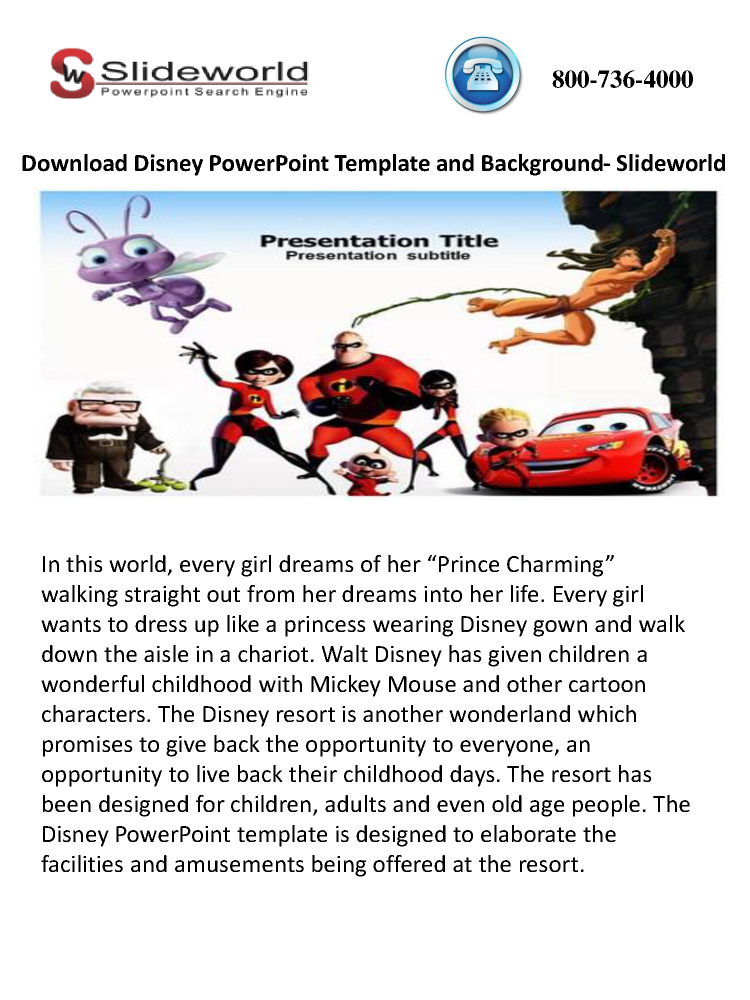 disney powerpoint template and background- slideworld |authorstream, Modern powerpoint