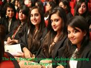 The best designing courses, fashion designing & law colleges in India