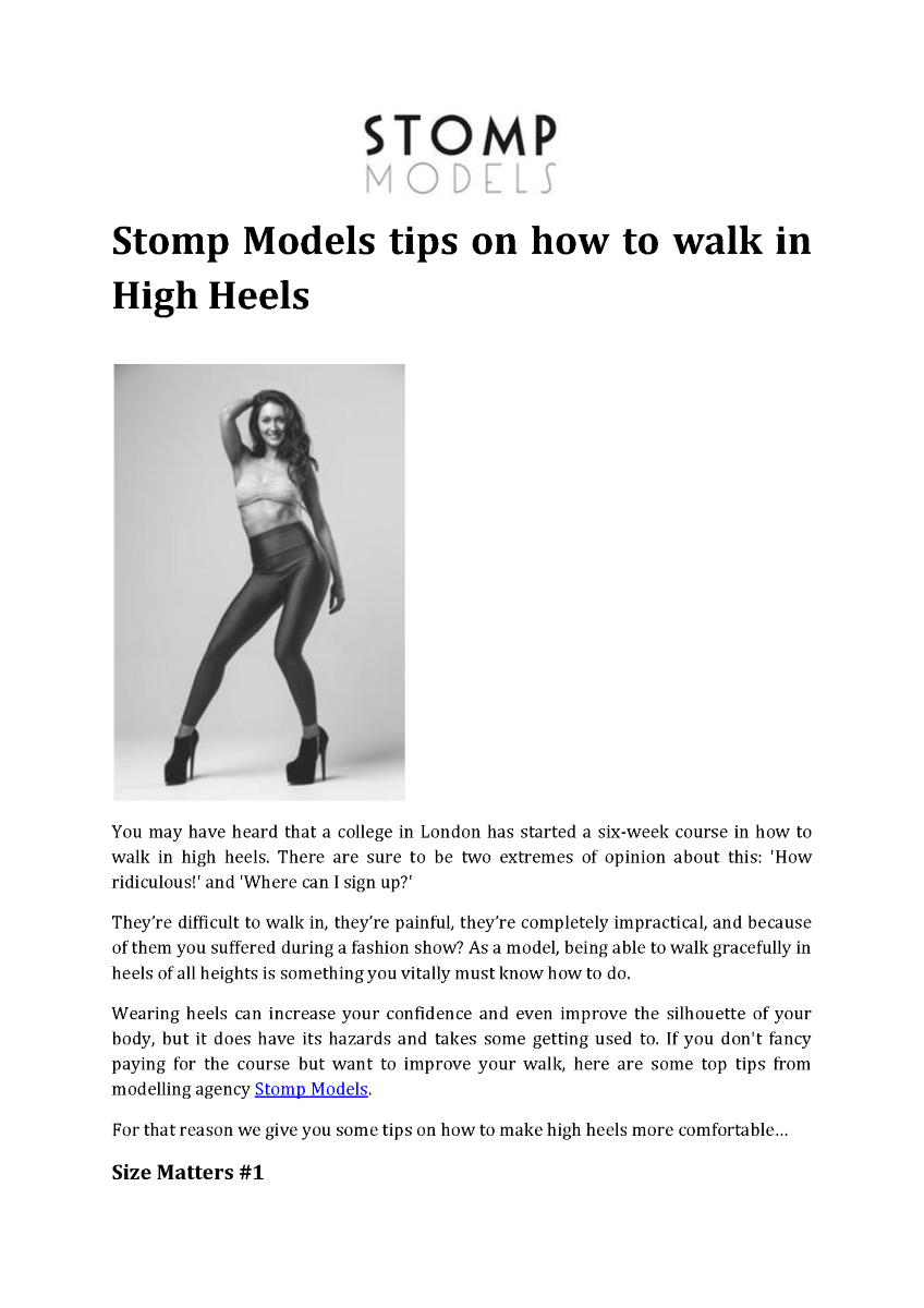 how to walk in high heels pdf