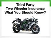Third Party Two Wheeler Insurance - What You Should Know