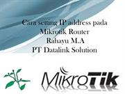 Cara setting IP address Mikrotik Router