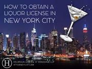 How to Obtain a Liquor License in New York City