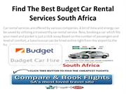 Find The Best Budget Car Rental Services South Africa