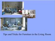 Tips and Tricks for Furniture in the Living Room