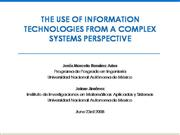 The Use of Information Technologies