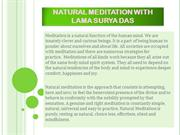 Natural Meditation with Lama Surya Das