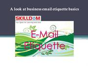 A look at business email etiquette basics