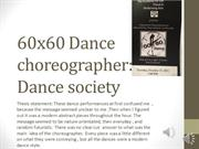 dance appreciation project